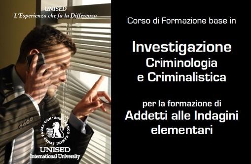Corso di Investigazione Criminologia e Criminalistica