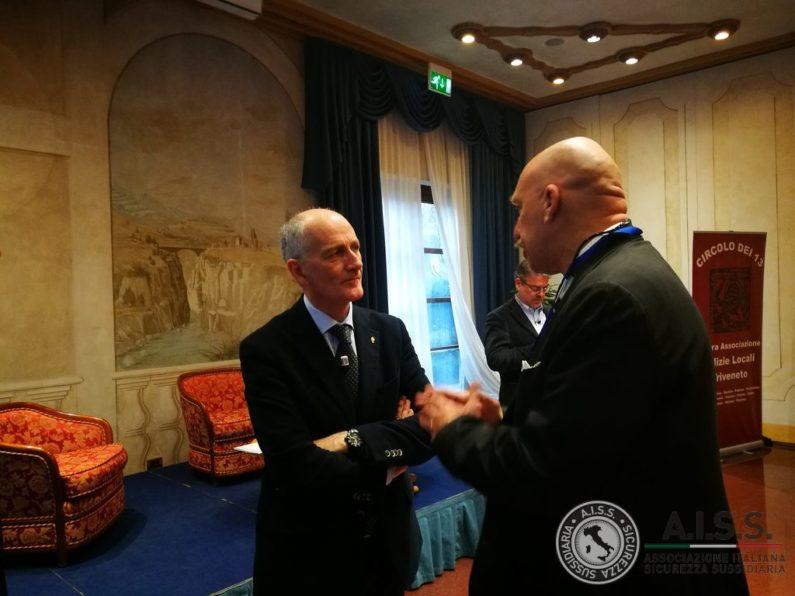 Il Capo della Polizia Prefetto Franco Gabrielli - Presidente Aiss Franco Cecconi