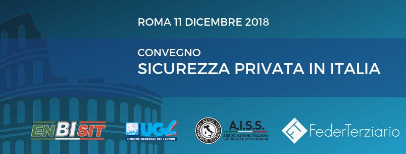 Convegno Sicurezza Privata in Italia