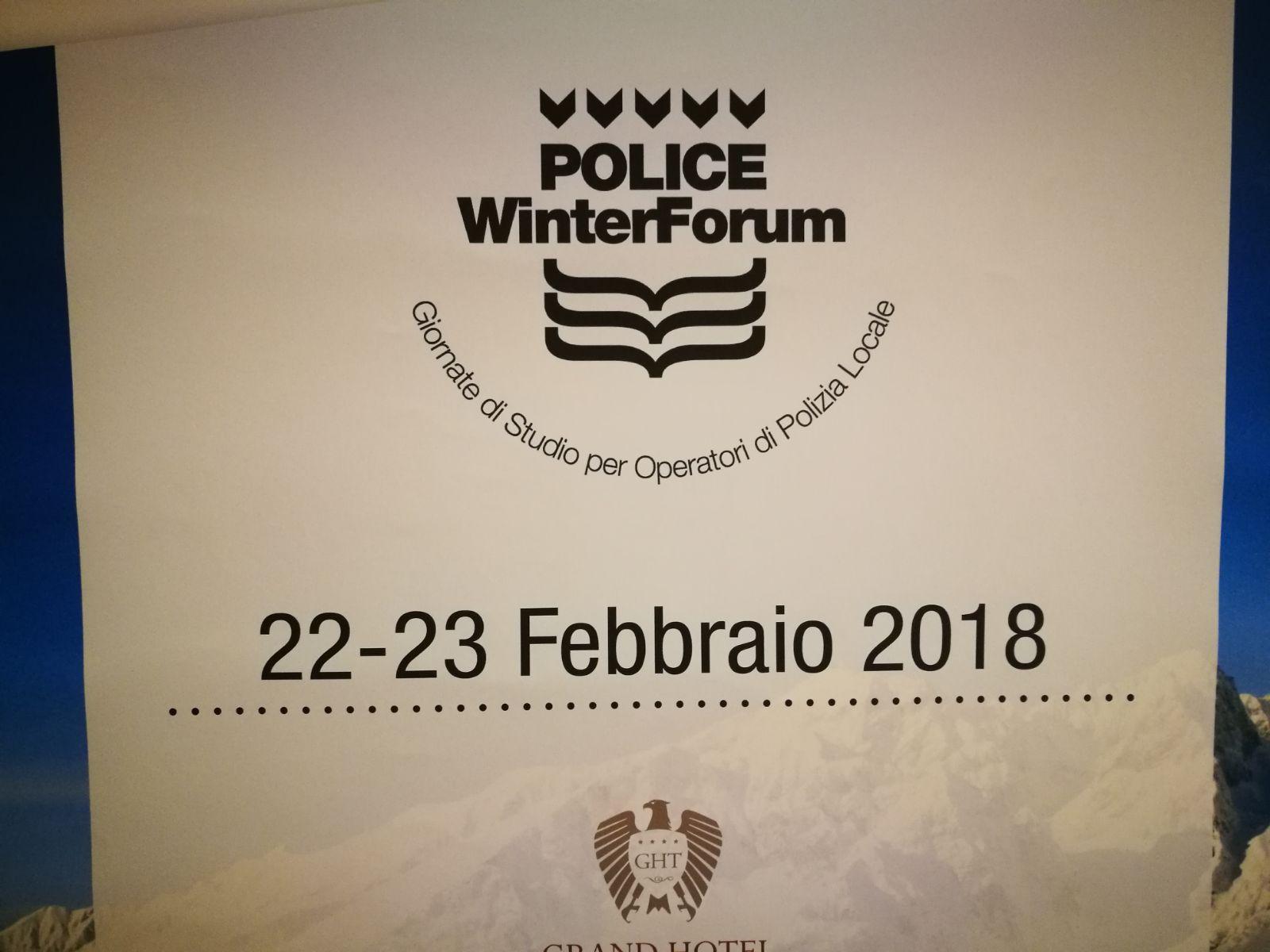 Polizia locale e prevenzione se ne parla a Trento al Police Winter Forum 22-23 febbraio 2018