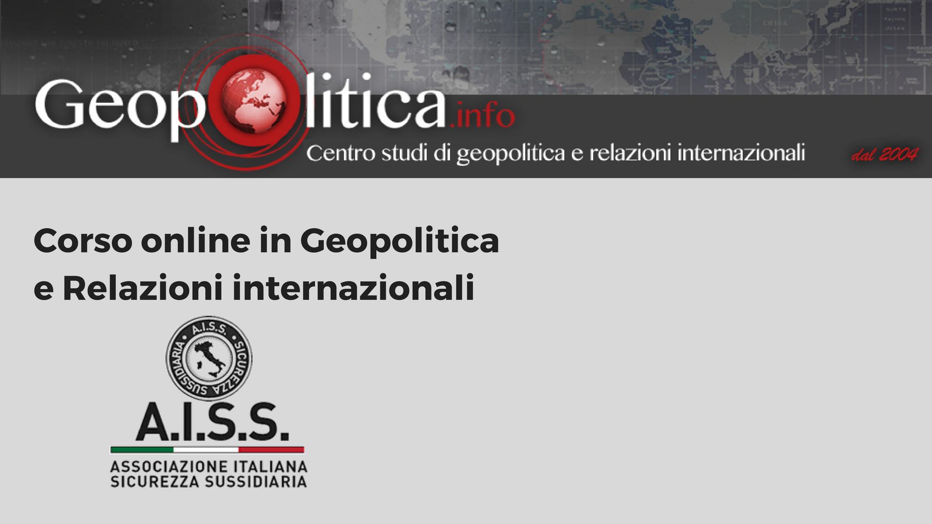 Corso online in Geopolitica e Relazioni internazionali