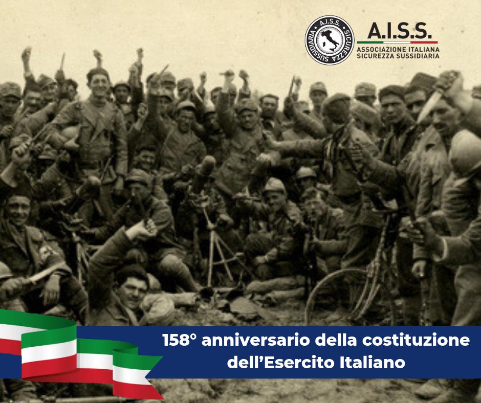 158° anniversario della costituzione dell'Esercito Italiano, la sicurezza del paese, la legalità.