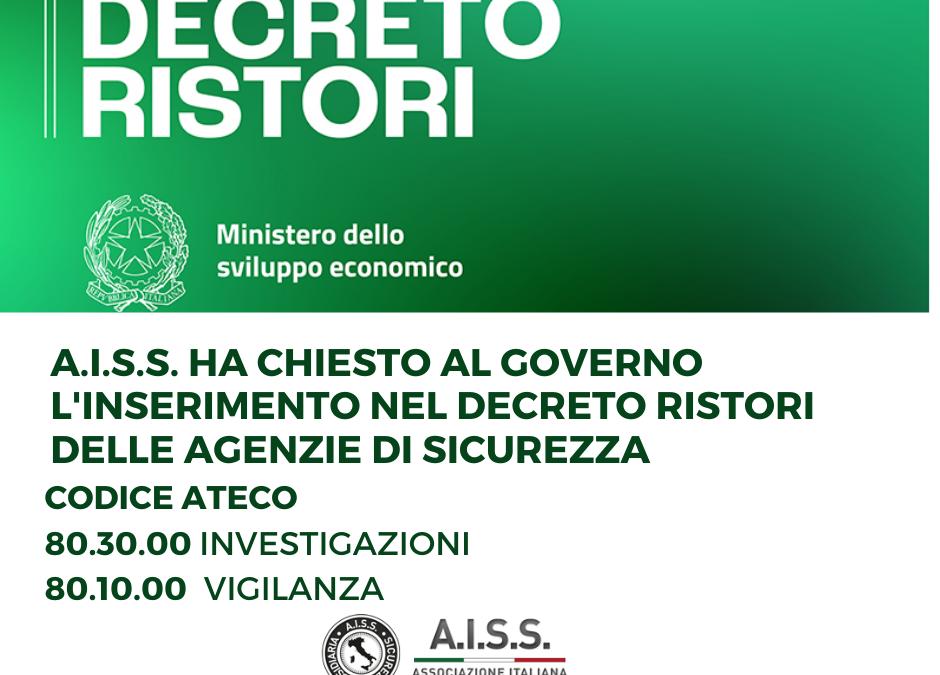 Decreto Ristori – le agenzie di sicurezza privata ancora penalizzate dal Governo
